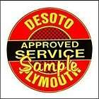 DeSoto   Plymouth Service 3x3 Sticker Decals Vinyl Signs Gas Globes