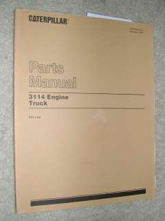 CAT Caterpillar 3114 PARTS MANUAL BOOK CATALOG ENGINE DIESEL TRUCK