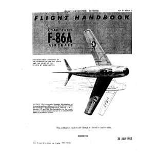 North American Aviation F 86 A Aircraft Flight Handbook