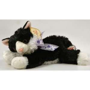 Aurora Fancy Pals Stuffed Plush Pet Animal Black White Kitty Cat with