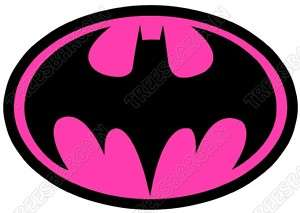 Batman Logo Pink T  Shirt Iron On Transfer