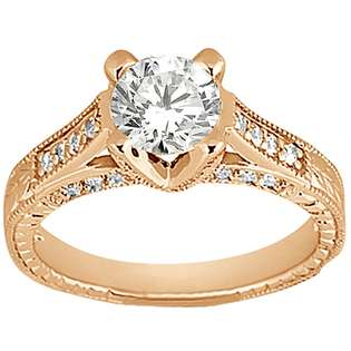 Band 18k Rose Gold  Allurez Jewelry Rings Wedding & Anniversary