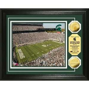 Michigan State University Spartan Stadium 24KT Gold Coin Photomint