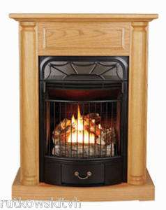 Windsor Wood Freestanding Vent Free Dual Fuel Gas Fireplace 20,000 BTU