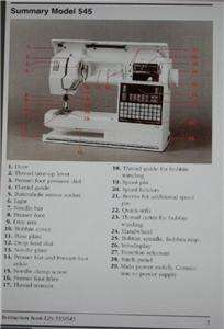 Viking Husqvarna 545 Lily Sewing Machine Manual On CD