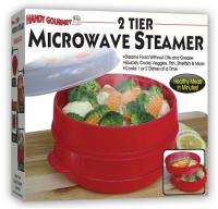 Gourmet 2 Tier Microwave Steamer Food Cooker Red 017874006328