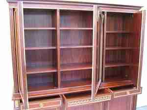REF # 8022   French Louis XVI style Bookcase   Mahogany with Bronze