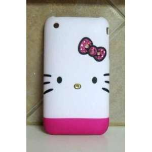 Kitty Iphone 4g Case Pink Swarovski Crystal Bling Cover for Iphone 4g