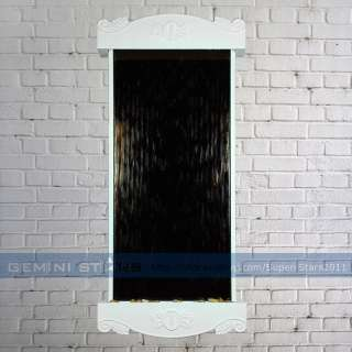 Retro Indoor Wall Mounted LED Fountain Waterfall Tempered Mirror