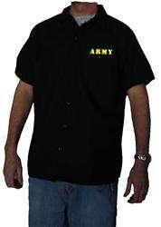 Authentic DICKIES ARMY Work Shirt Brand New Short Sleeve Button Up