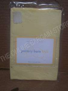 Pottery Barn Kids Jersey Knit Crib Baby Nursery Bed Pillowcase Yellow