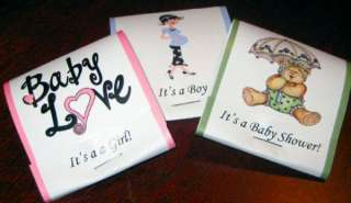 10 Baby Shower Personalized Nail File MatchBooks Favors