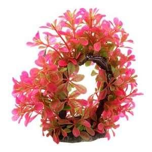 Como Fuchsia Green Curve Design Plastic Water Plant Wreath