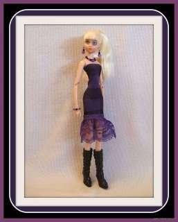 HANDMADE Custom FASHION DRESS + JEWELRY for LOLLIPOP GIRLS DOLL Goth