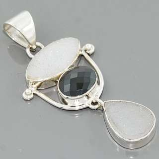 Black Onyx Gemstone 925 Sterling Silver Pendant Jewelry New