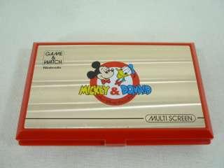 game watch mickey donald multi screen boxed dm 53 model nintendo