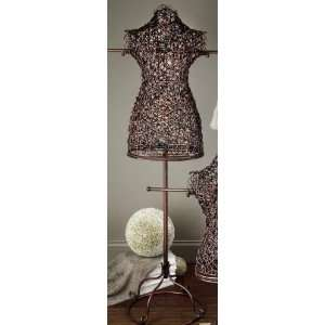 Large Rattan Body Form Display   55.25 High Mannequin