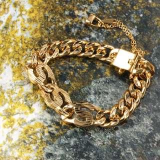 Fascinate 9K Gold Filled Womens Link Bracelet,New 190mm
