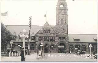 Depot, Wyoming, Cheyenne, RPPC, Union Pacific Railroad