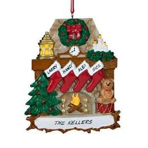 Personalized police officer uniform christmas ornament for Stocking clips for fireplace