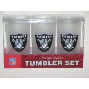 OAKLAND RAIDERS Team Logo Acrylic FROSTED TUMBLER CUPS