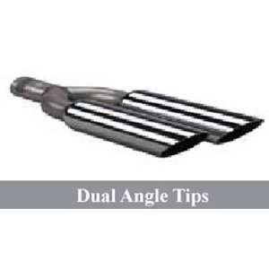 75 OD; dual angle cut tips; Exhaust Tips; chrome: Home Improvement
