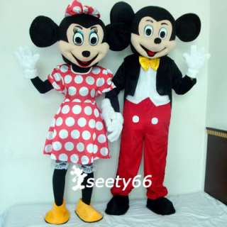 Costumes Mickey & Minnie Mouse Mascot Cartoon Character Adult SZ