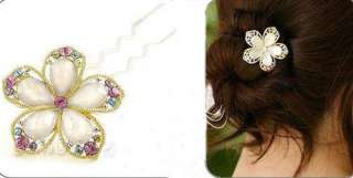 Fashion Jewelry Rhinestone Phnom penh flower Hairpin Hair Accessories