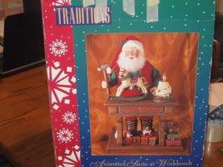 Traditions Christmas Animated Musical Santa Workshop toys In box