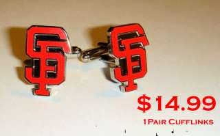 San Francisco Giants Cufflinks logo cuff links tie bar clip hat jersey