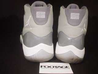 2010 Nike Air Jordan XI 11 Retro COOL GREY WHITE SILVER PATENT LEATHER