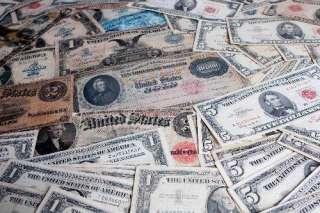 lot gold silver coins Vintage Currency notes Art set $ dollar estate