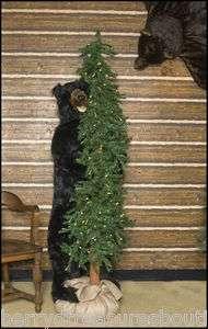 ALPINE SMILE Christmas Tree Bear Lighted 72 Holiday Lights NEW