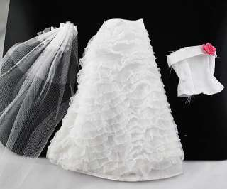 Fashion Handmade Wedding Dress Clothes For Barbie Doll