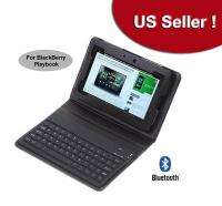 Bluetooth Wireless Keyboard Leather Cover Case for 7 BlackBerry