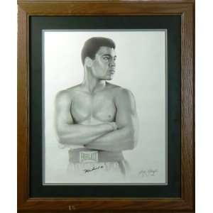 Muhammad Ali Autographed Litho   Autographed Boxing Art