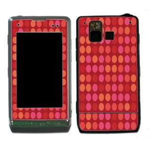Red Polka Dots Design Decal Protective Skin Sticker for LG