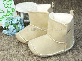 new baby toddler boy girl khaki boots shoes US 2 3 A267