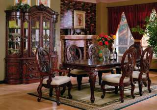 Pc Birch Wood Master Dining Room Set Table Chairs New