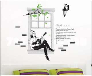 Removable Vinyl Wall Glass Sticker Wallpaper Art Decal
