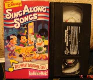 Disney Sing Along Songs Vhs Video Very Merry Christmas Songs Fun