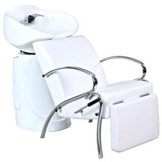 New Salon Shampoo Unit & White Lounge Chair SU 21WWP
