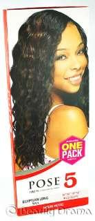 MODEL MODEL Pose 5 EGYPTIAN LONG 5PCS Human Hair Mastermix Weave