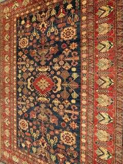 Beautiful Handmade Vegetable Dye Hand Spun Gazni Wool Fine Kazak Rug