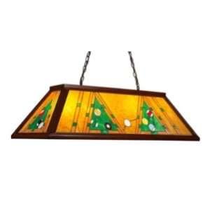 Amber Tiffany Game Room Billiard Pendant 44 L Landmark Lighting 70062