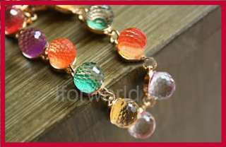 Colorful Candy glass crystals beads Bracelet Nice 2012 Hot sale