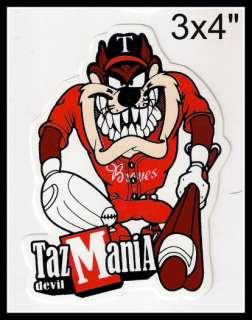 TZ9 TAZMANIA DEVIL BASEBALL SPORTS STICKER DECAL 3X4