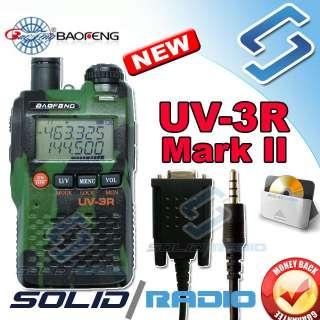 Green Camouflage BaoFeng UV 3R Mark II dual band radio + serial