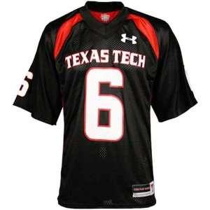 Under Armour Texas Tech Red Raiders Black #6 Replica