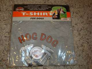 NEW Dog LARGE t shirt by Harley Davidson Gray HOG DOG